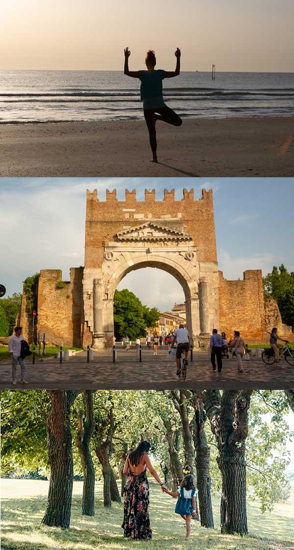 tre giorni da riminese: yoga, centro storico, entroterra