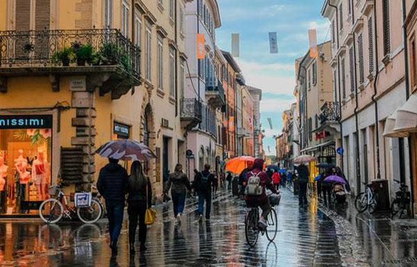 Rimini l'autunno: le vie del centro storico